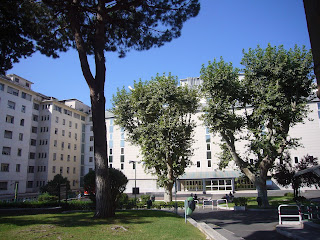 The San Giovanni Addolorata Hospital is built on top of Roman Ruins on Celio hill, south-east of the city centre
