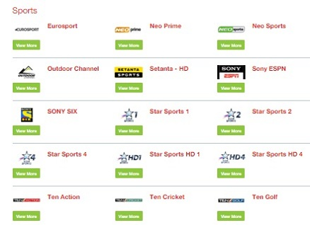 AI: Dialog TV Channels Postpaid and Prepaid
