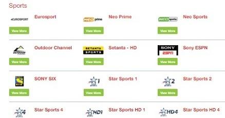 AI: Dialog TV Channels Postpaid and Prepaid