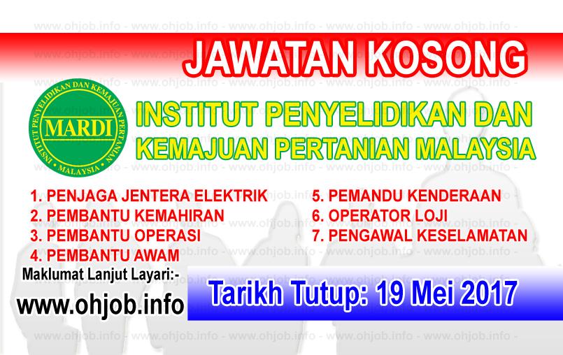 Jawatan Kerja Kosong MARDI - Institut Penyelidikan dan Kemajuan Pertanian Malaysia logo www.ohjob.info mei 2017