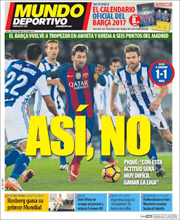 portada Mundo Deportivo empate Real Sociedad 28 11 2016