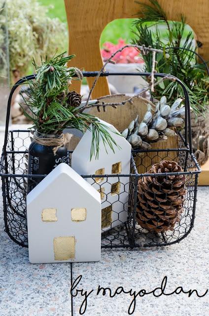 weihnachtliche Terrasse