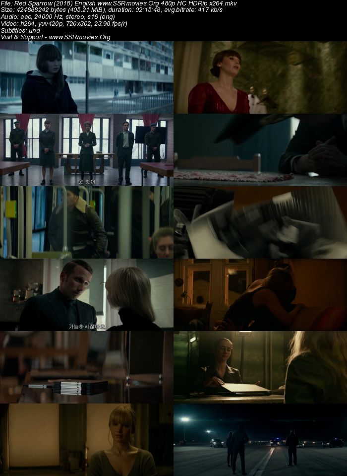 Red Sparrow (2018) English 480p HC HDRip