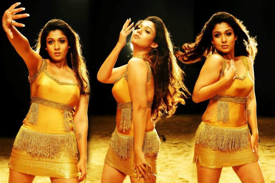 Nayantara in golden dress in movie Krishnam Vande Jagadgurum