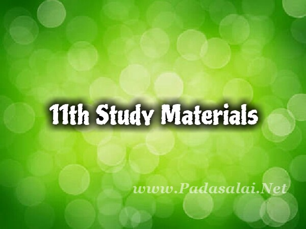 Latest 11th Study Materials - Tamil Medium & English Medium