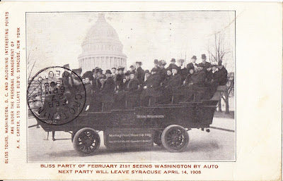 1907 Bliss Party Seeing Washington By Auto Bus Tour