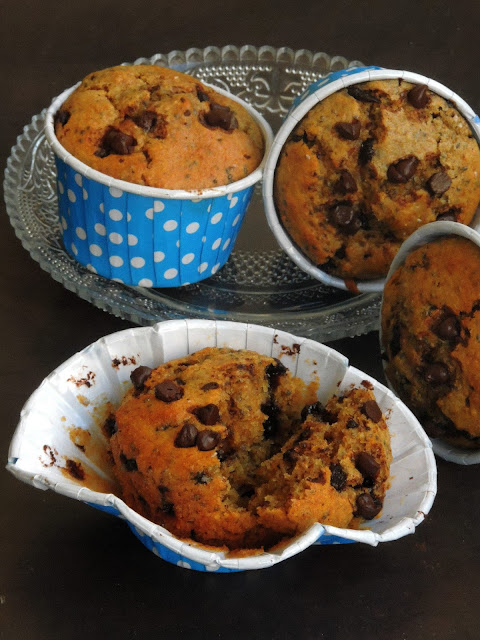 Chocolate Chips, Chia Seeds Muffins