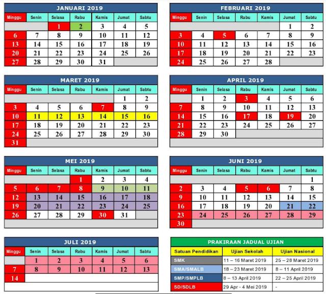 Kalender Pendidikan 2018 / 2019 Dinas Pendidikan Kab. Bekasi 2