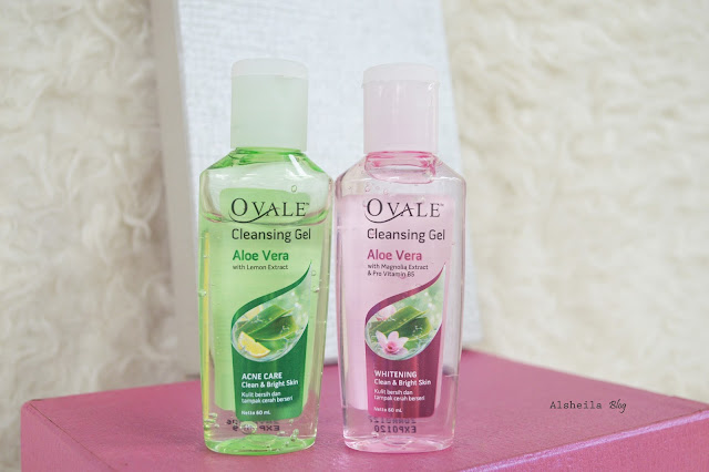 review ovale cleansing gel alore vera