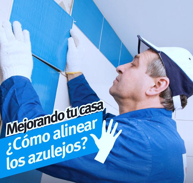 Como alinear los azulejos para enchapar baños
