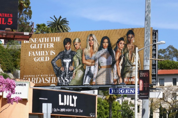 Keeping up with Kardashians season 16 glittering billboard