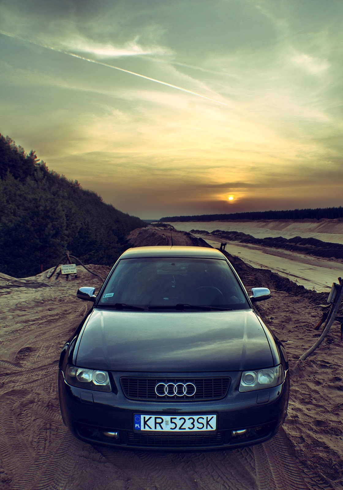 Automotive Photography By Yez Sand Mine HDR Photo Audi A - Sunset audi