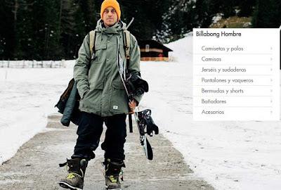 oferta de ropa de la marca Billabong para hombre