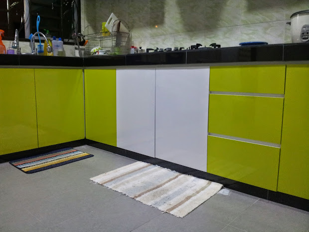 Cara Pasang Tile Kabinet Dapur