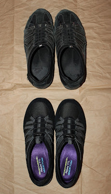 I love these laceless slip on Skechers memory foam sneakers