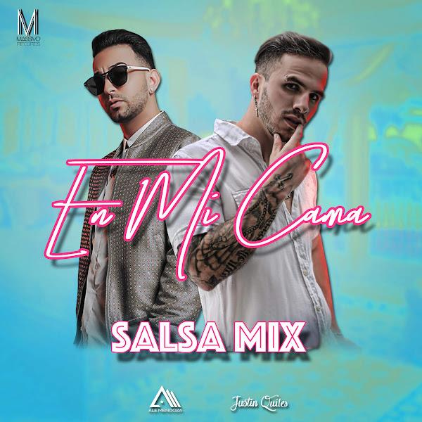 Ale Mendoza - En Mi Cama (feat. Justin Quiles) [Salsa Mix] - Single Cover