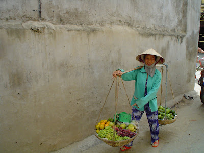 Non La (Vietnamese hat or conical hat). Hawker Vietnam