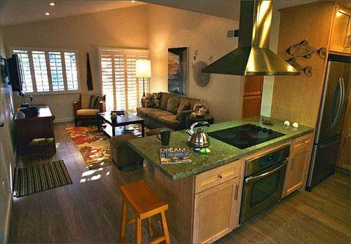 Những cách tích hợp phòng bếp vào phòng khách thông minh