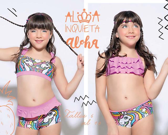 Bikinis para nenas. Bikinis para niñas verano 2018.
