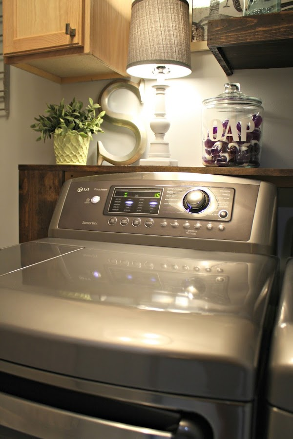 LG gray dryer