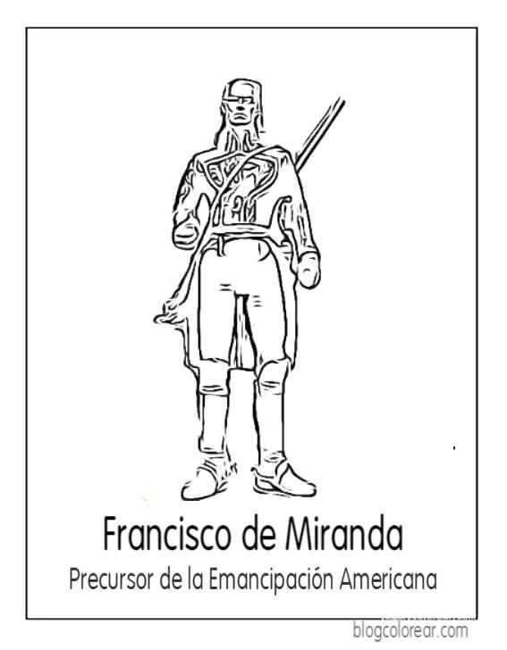 Dibujos de Francisco de Miranda colorear | Colorear dibujos infantiles