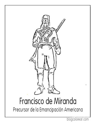 Francisco de Miranda colorear