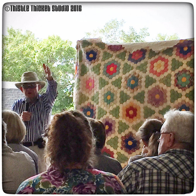 antique quilt, Thistle Thicket Studio, auction, hexigon quilt, quilts, quilting, grandmother's flower garden quilt