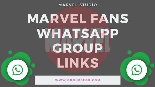 Marvel fans whatsapp group invite links