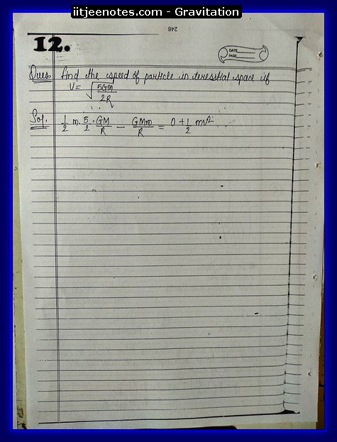 Gravitation Notes2
