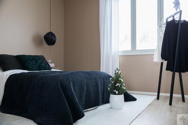 ideoita jouluun, makuuhuone, interior, sisustus, hattara vm carpet