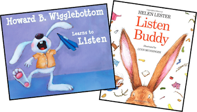 The beginning of the year is a time best spent on teaching expectations and procedures to set the tone for the rest of the year. One of the expectations we work on is listening skills. Two books that I use to help are Listen Buddy by Helen Lester and Howard B. Wigglebottom Learns to Listen by Howard Binkow.
