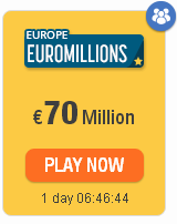 #EuroMillions 70 million and rain of millions: odds, clubs