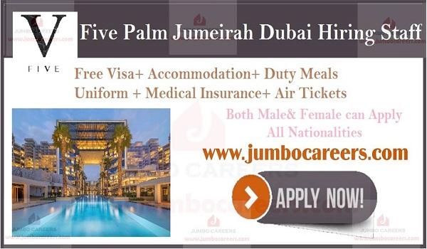 Hospitality jobs in Dubai, Free visa air ticket jobs in Dubai,