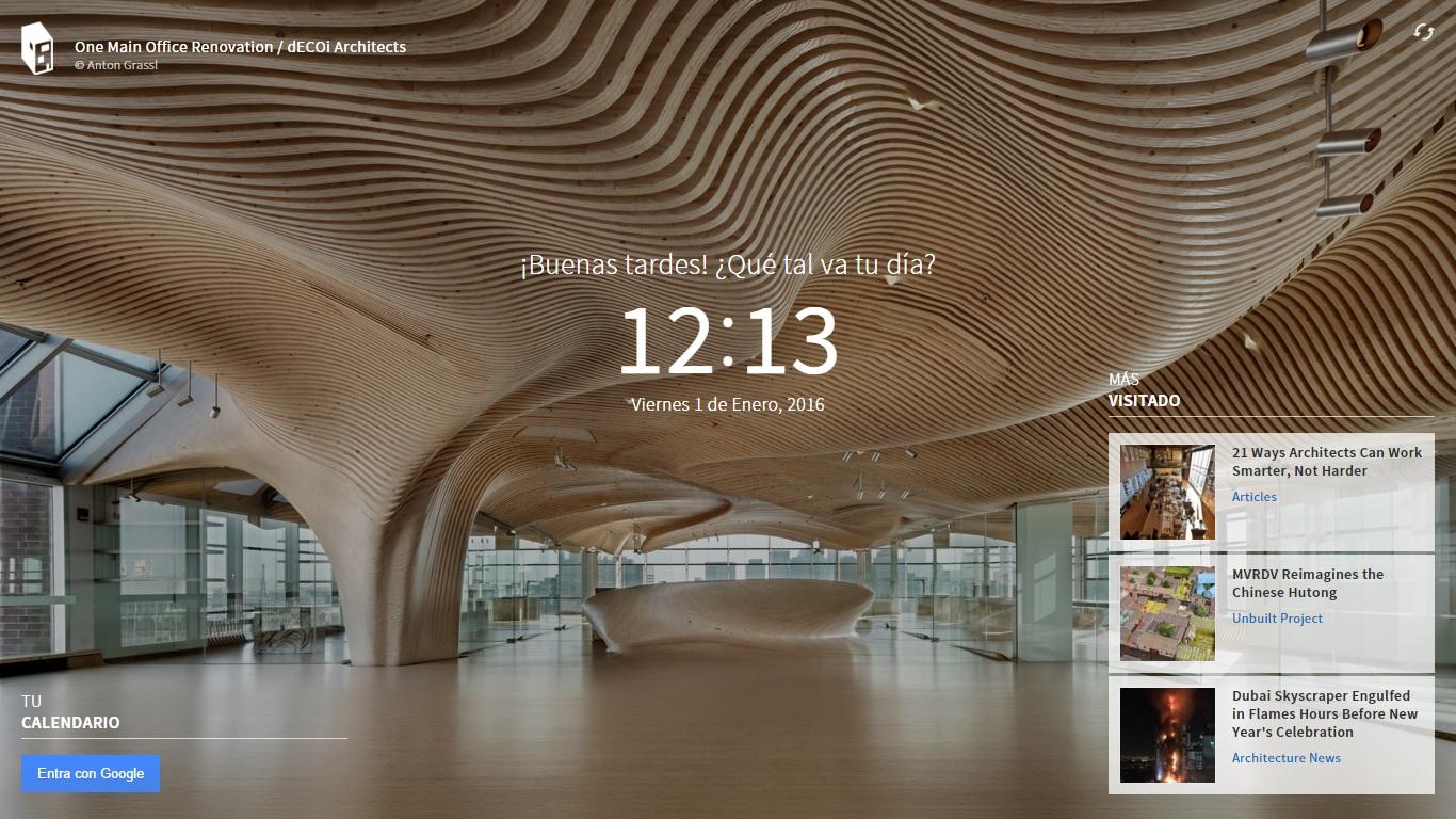 Decora tu navegador con fondos de arquitectura oye juanjo for Arquitectura parametrica pdf