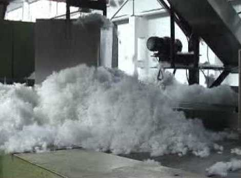 Polyester staple fiber production