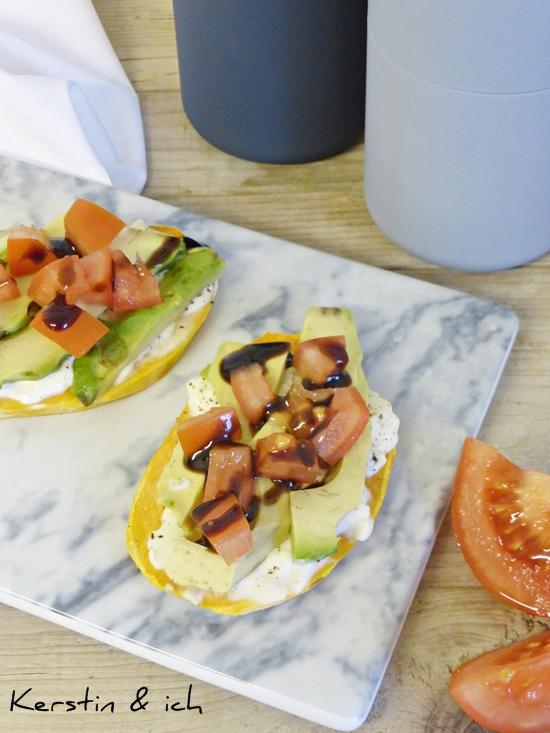 Rezept Süßkartoffel-Toast mit Avocado und Tomate