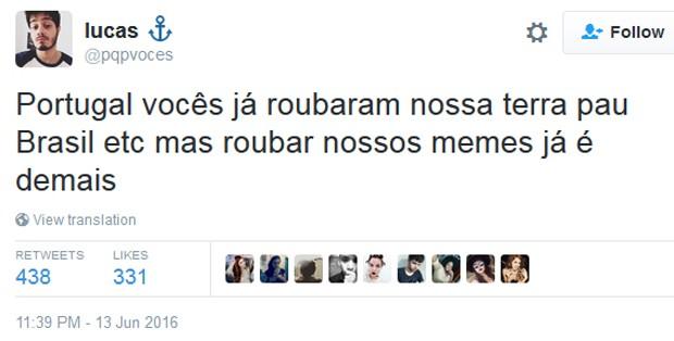 O que foi a Gerra Memeal entre Brasil e Portugal no Twitter