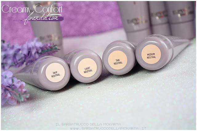 neutral creamy confort foundation Fondotinta Neve Cosmetics