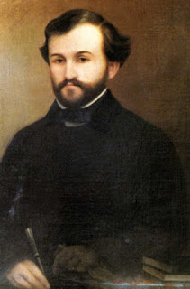A portrait of Giuseppe Verdi in 1839, the year of his first opera, Oberto