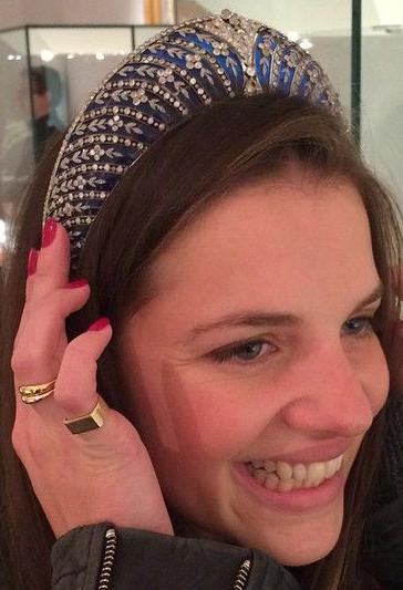 tiara mania duchess of westminster s blue enamel kokoshnik