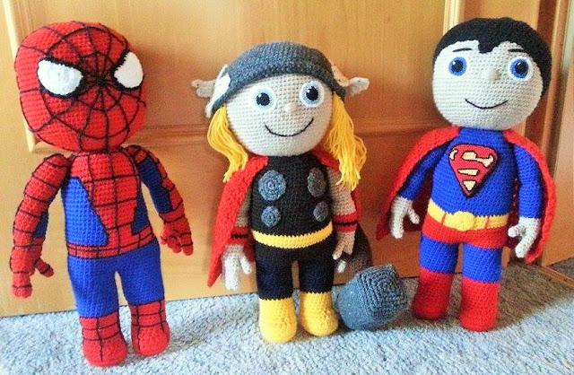 Spiderman in versione Amigurumi - Creazioni Rita C. ...Only Handmade! | 418x640