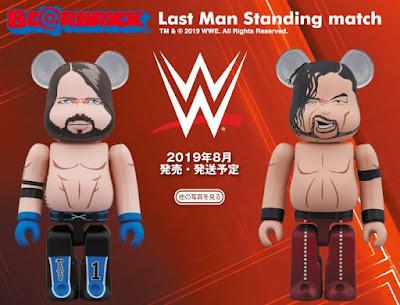 WWE AJ Styles vs Shinsuke Nakamura 100% Be@rbrick Figures by Medicom Toy