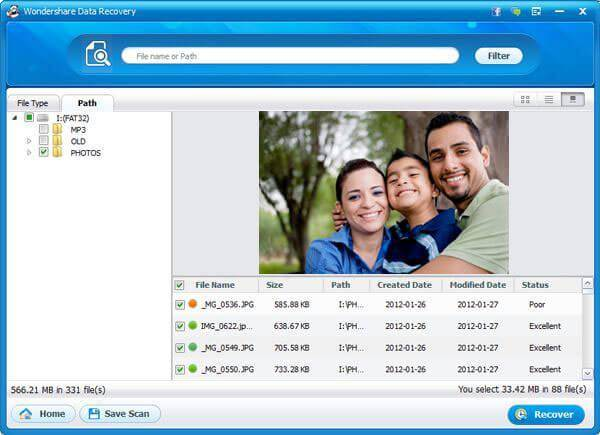 Wondershare Data Recovery - Preview