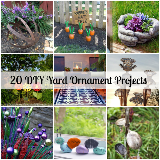 Backyard Ornaments 20 easy diy yard ornaments - becky lynn coleman