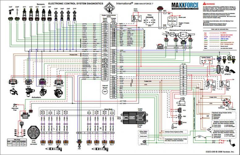 INTERNATIONAL Automotive Library: [Other] Interntional EGED 365 2008 Electronic Control System