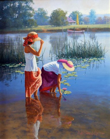 Gorgeous Photos, painting of two girls - creativity