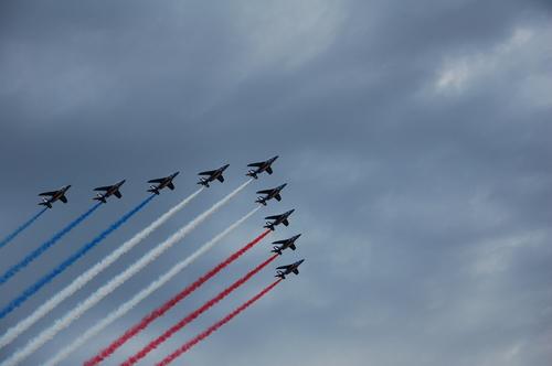 Image result for france independence day celebration airplane