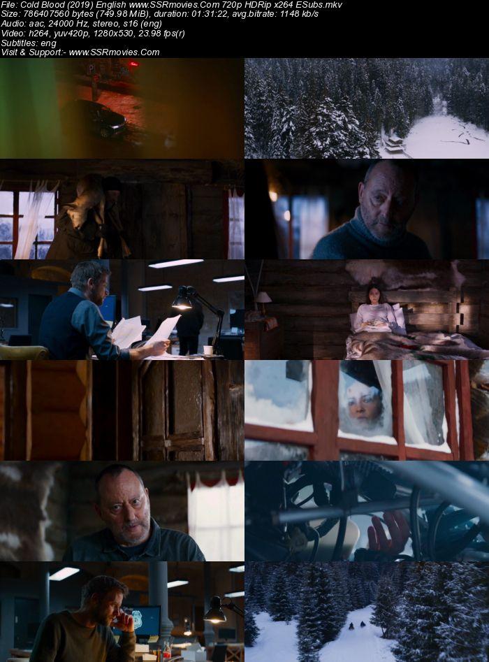 Cold Blood (2019) English 480p HDRip x264 300MB ESubs Movie Download