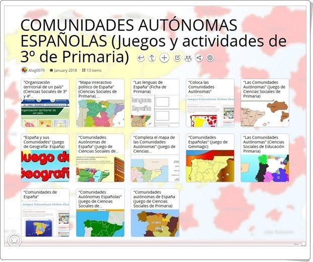 """""""13 juegos y actividades para el estudio de LAS COMUNIDADES AUTÓNOMAS ESPAÑOLAS  en Ciencias Sociales de 3º de Primaria"""""""