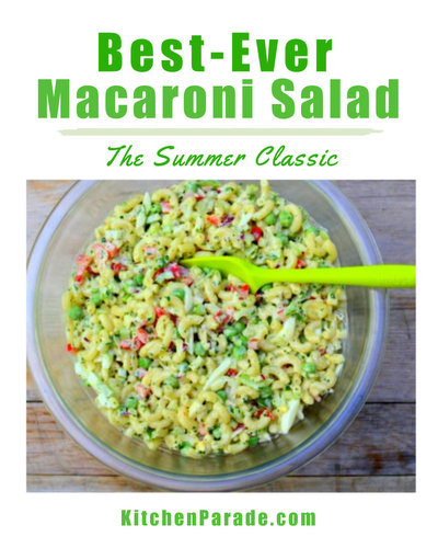 Best-Ever Macaroni Salad, the summer classic, just better ♥ KitchenParade.com. Great crunch, thanks to six different vegetables in a light and bright savory dressing. Budget Friendly. Potluck and Party Friendly. Weight Watchers Friendly.